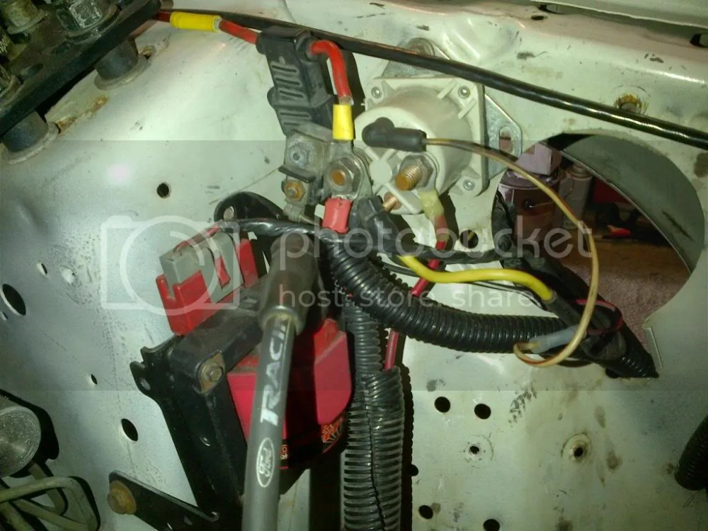 medium resolution of here s a picture below of how the starter solenoid looks in the car right now that yellow wire you see there is not the same wire