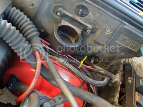small resolution of and you can also spot the other thin red power wire ziptied above the brake