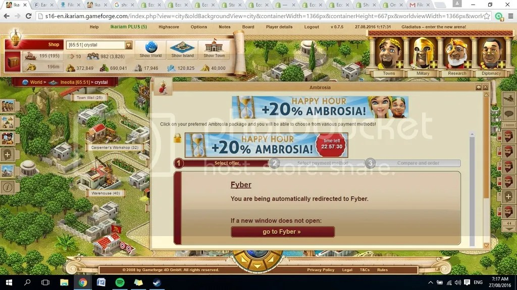 Earn Ambrosia - Help and Questions Archive - Ikariam EN