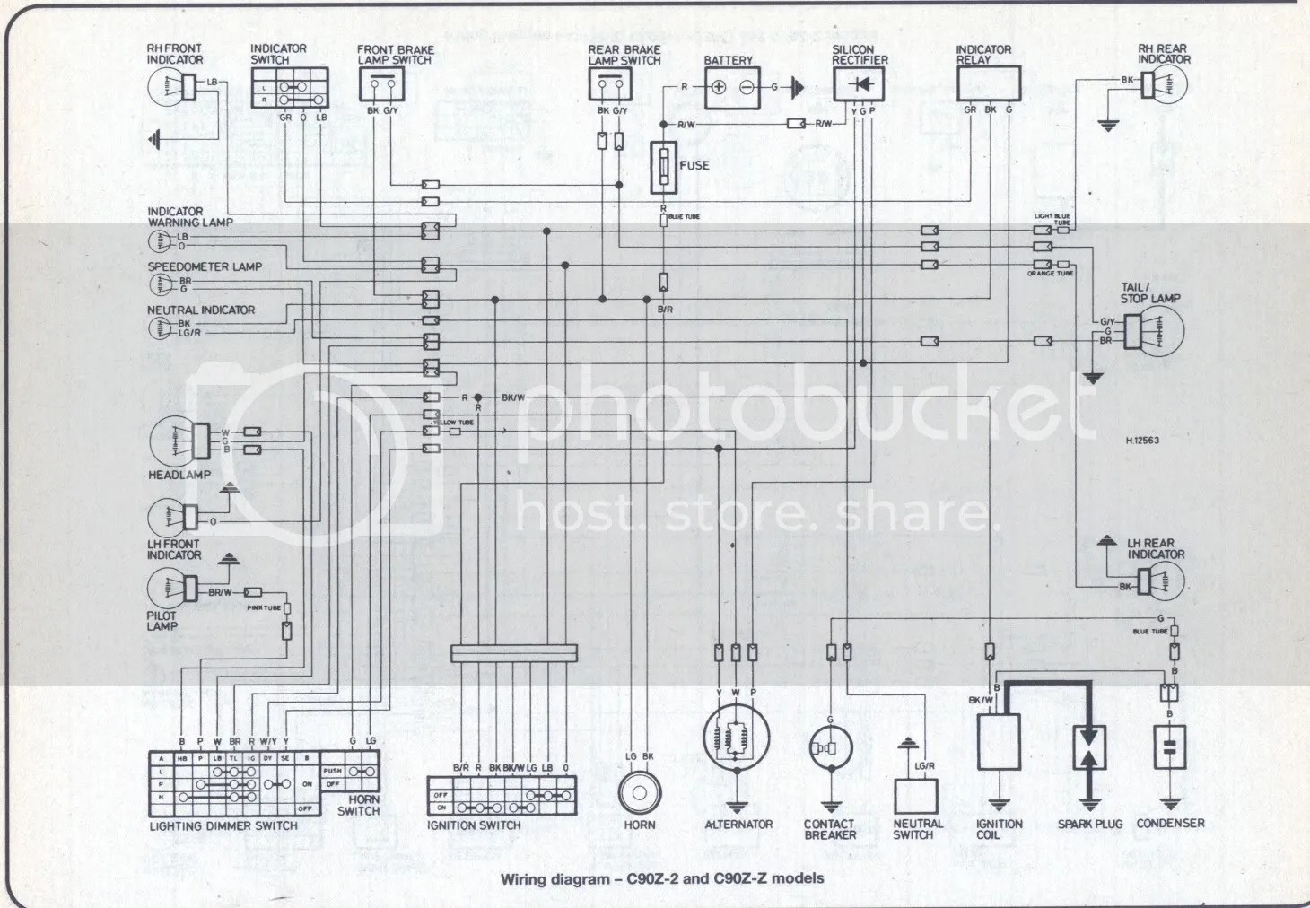 Honda C90 Wiring Diagram 12v Auto Electrical 1996 Grand Cherokee Alternator Harness Related With
