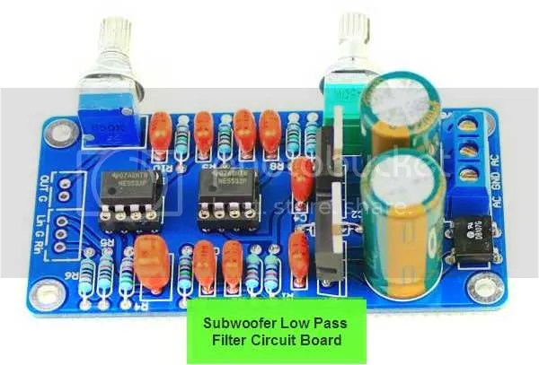 Lowpass Filter Subwoofer Frequency Circuit Board Ne5532 Opamp Chip