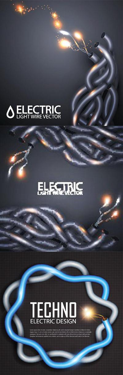 Stock Vectors - Electric light wire vector