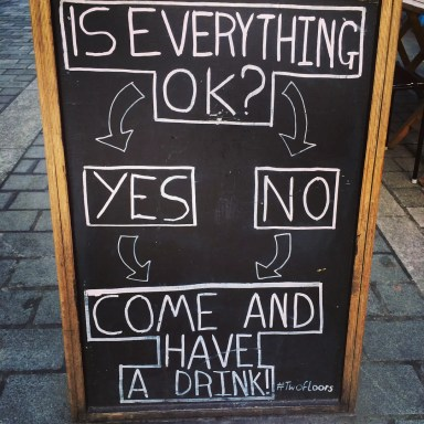 Everything Okay Pub Sign