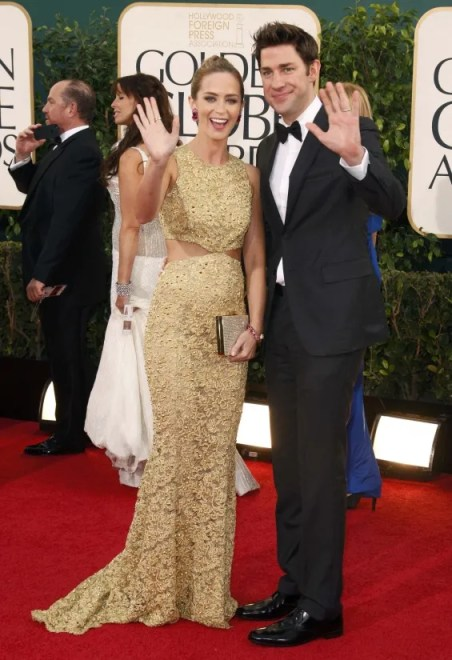 John Krasinski Golden Globes red carpet