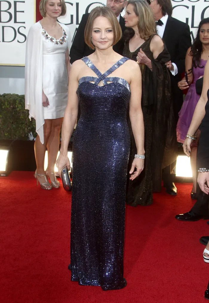 Jodie Foster Golden Globes red carpet