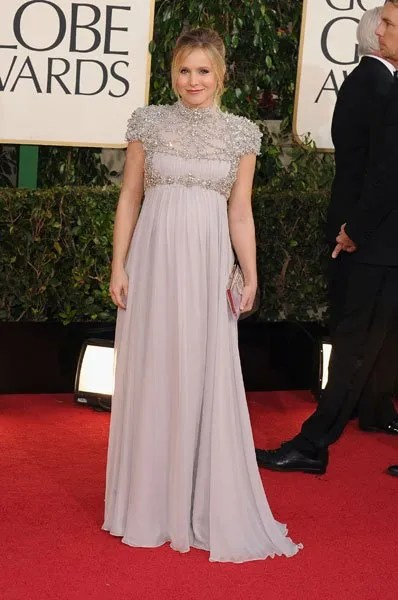 Kristen Bell Golden Globes red carpet