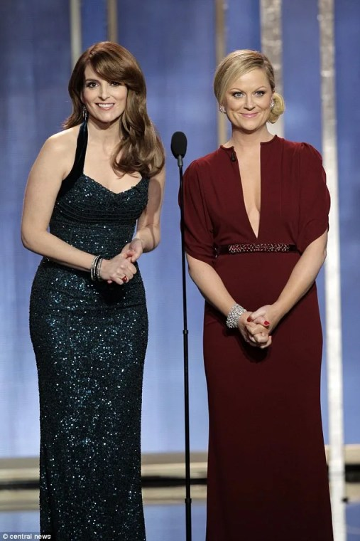 Amy and Tina hosting the Golden Globes
