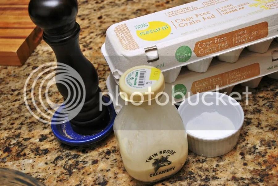 prepped quiche ingredients