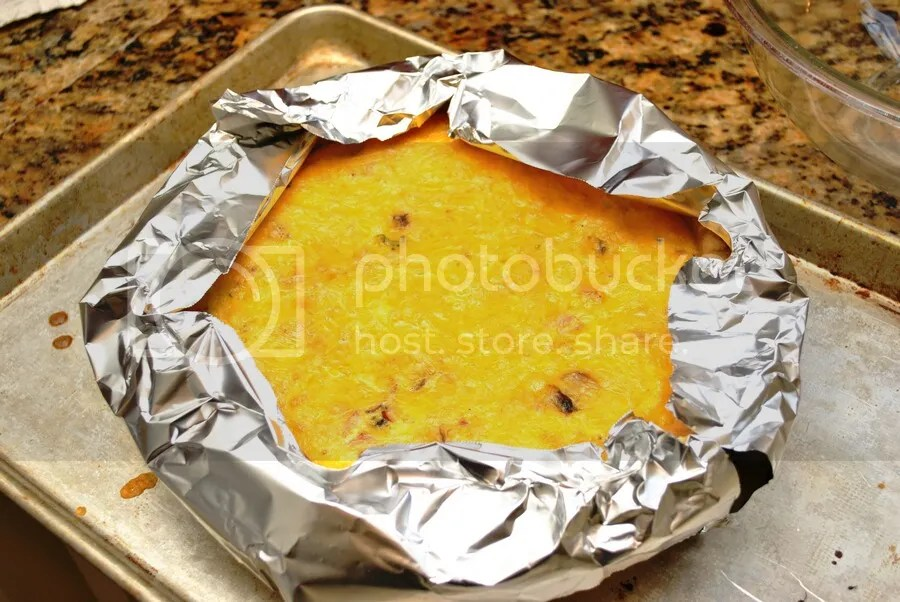 foil strips to prevent crust from burning