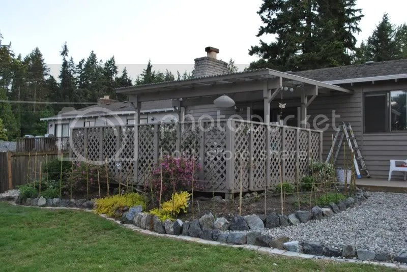 Raised garden bed ornamental