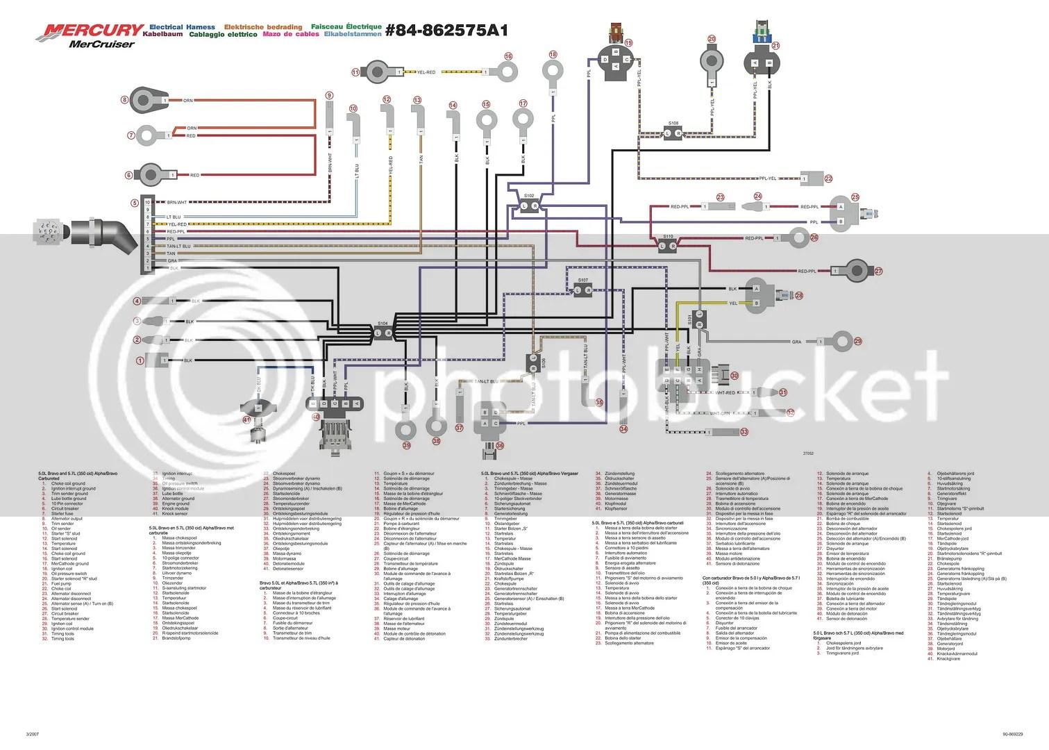 mercury thunderbolt iv ignition wiring emergency key  mercruiser thunderbolt 4 wiring diagram #15