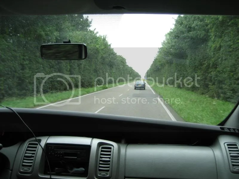 A cool highway in Germany lined with trees