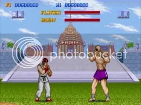 Resultado de imagem para ryu vs sagat street fighter 1