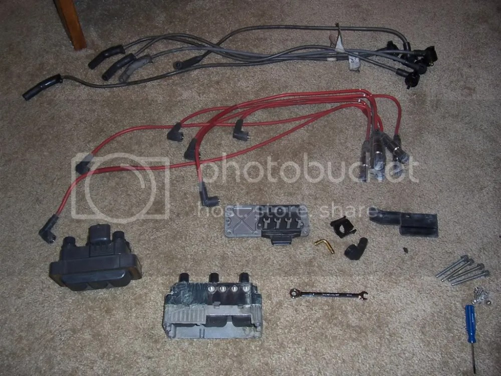 medium resolution of i picked up the used ford coil wiring plug and stock ford plug wires off of