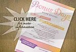 Bonus Days Stampin' Up! Special