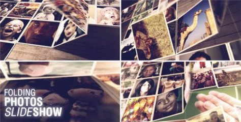 Folding Photos Slideshow - After Effects Project (Videohive)