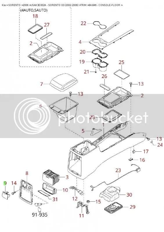 Service manual [Removing The Center Console On A 2010 Kia