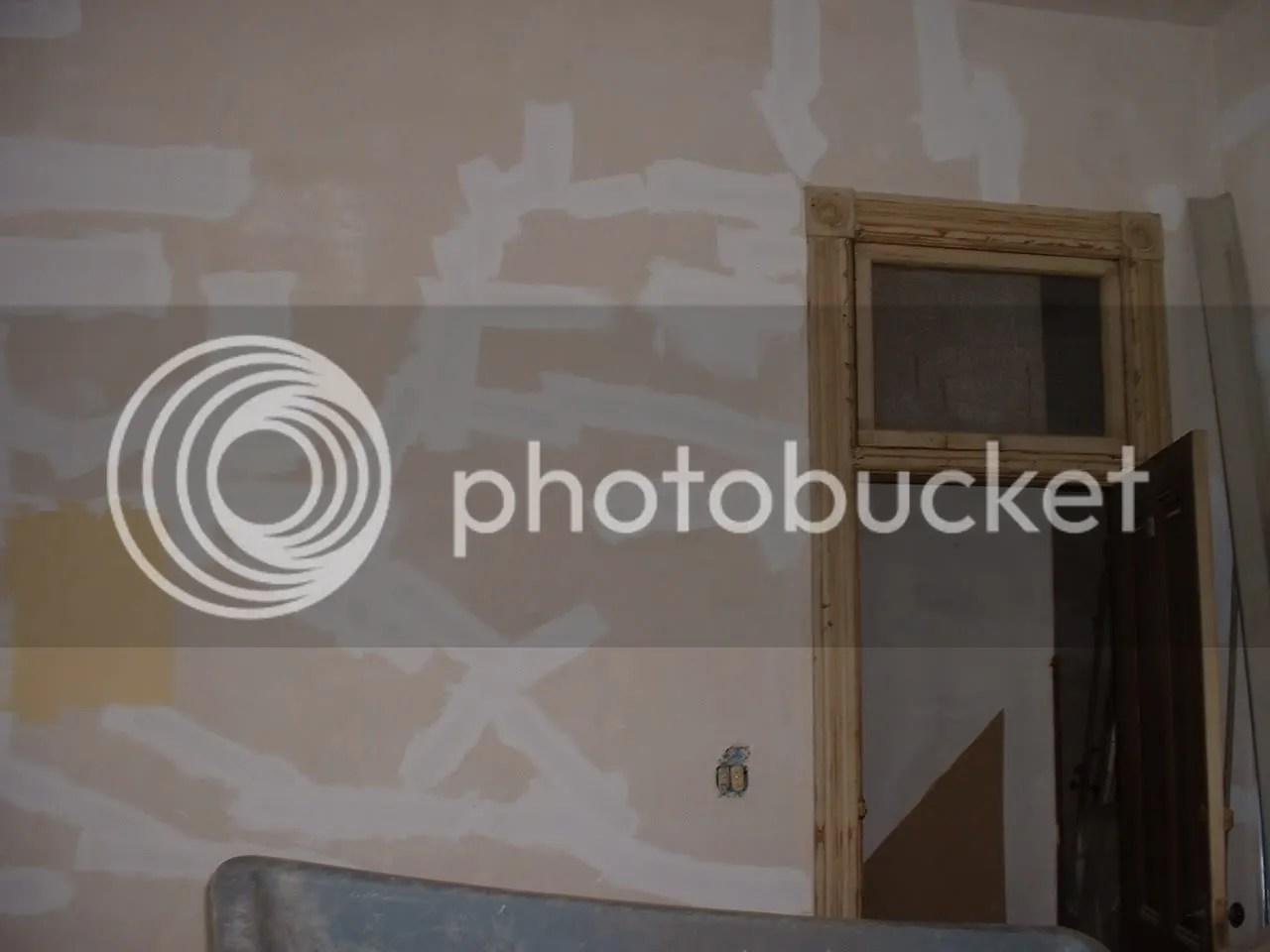 kitchen with original plaster