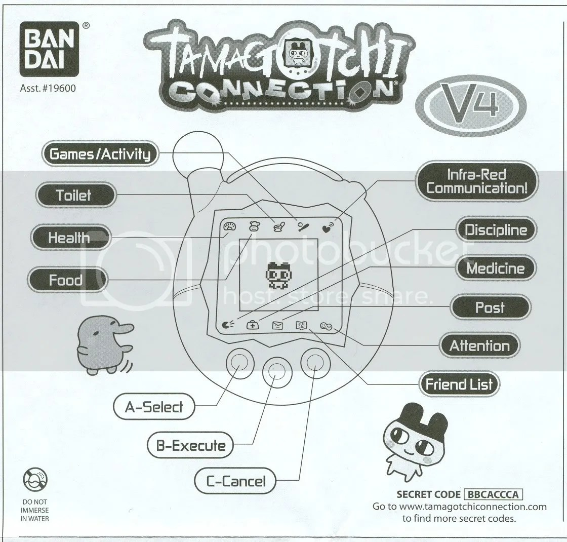 Tamagotchi Connection V4 Instruction Manual Photos by