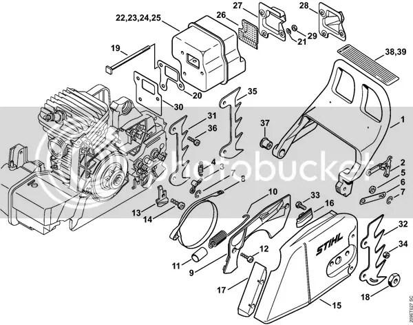 stihl 290 parts diagram