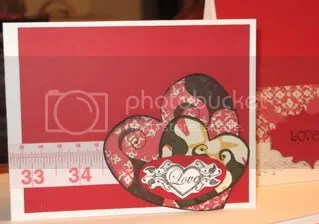 Heart Card, made with Majestical Memories heart chipboards