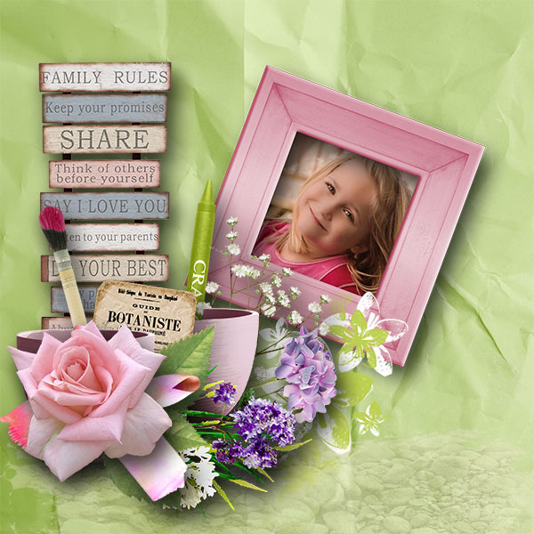 can you paint me some flowers kit by simplette scrap and design page talou