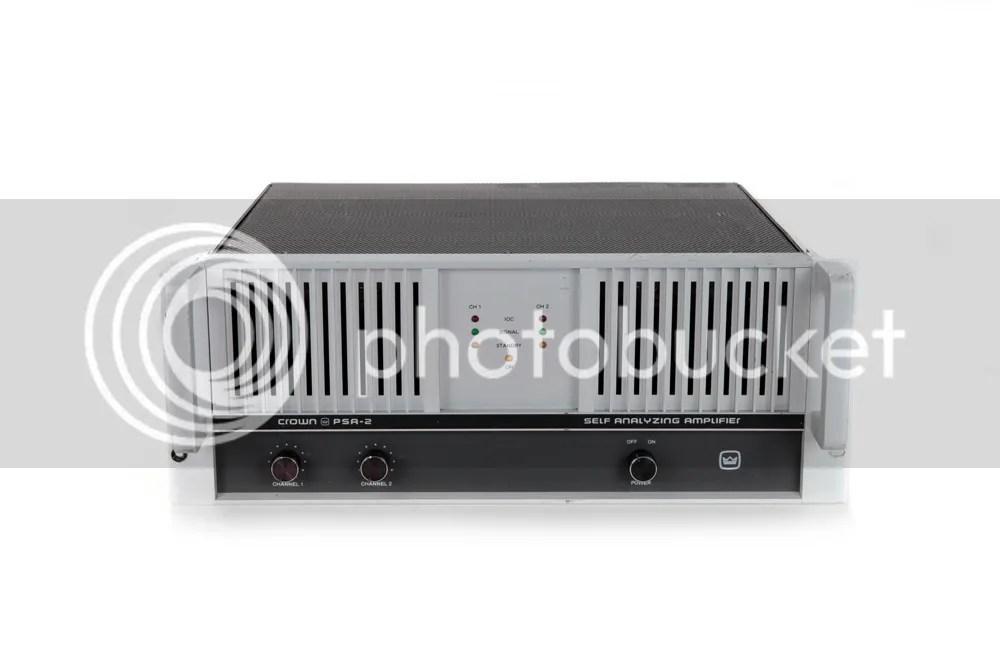 Crown PSA-2 PSA2 PSA 2 Self Analyzing Power Amp Amplifier ...