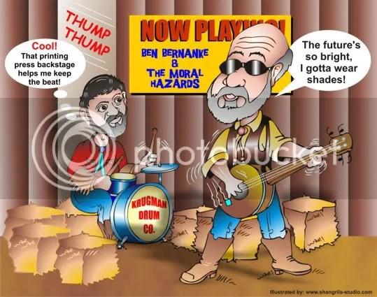 Bernanke and Krugman Cartoon