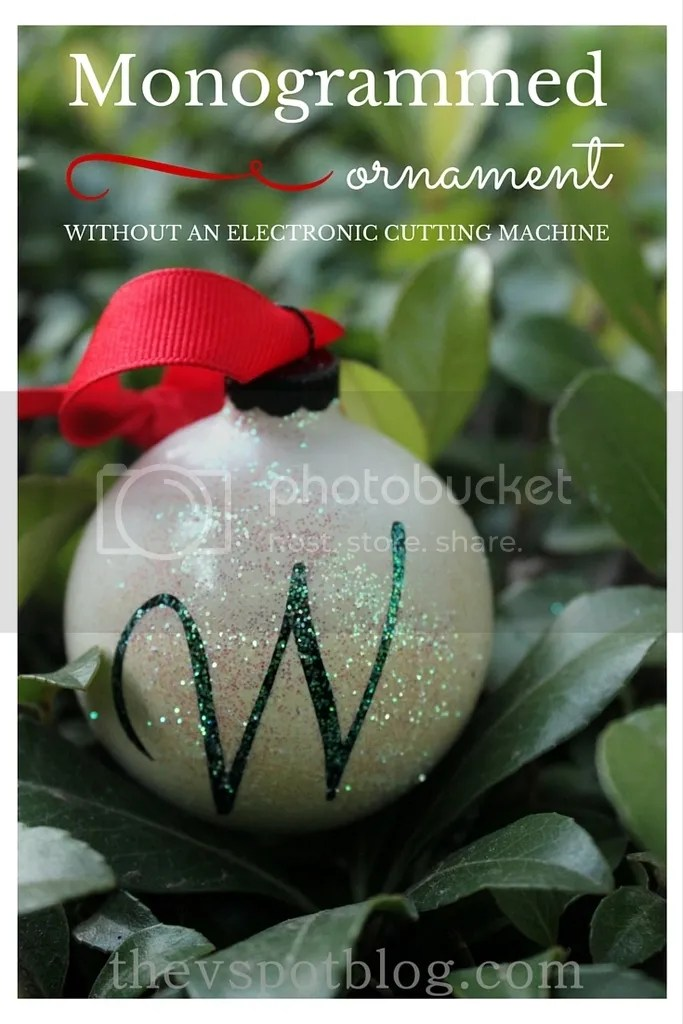 photo Monogrammed ornament without using an electronic cutting machine via The V Spot Blog.jpg