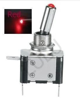 Ac 3 Prong Rocker Switch Wiring Diagram 3x Red Led Light Illuminated Toggle Switch 12v Car 07dr Ebay