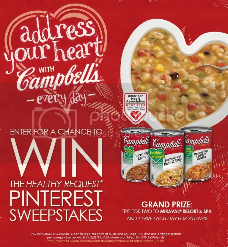 Address Your Heart with Campbell's Pinterest Sweepstakes
