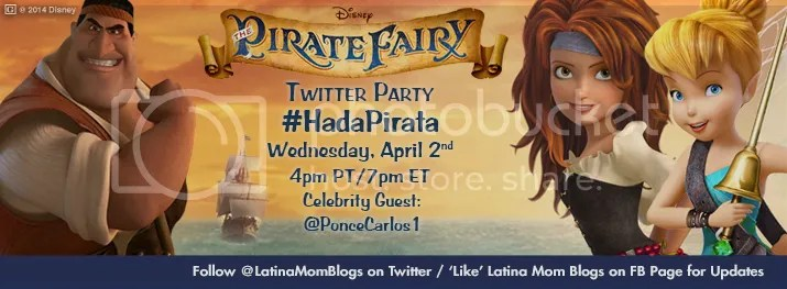 The Pirate Fairy #HadaPirata Bilingual Twitter Party
