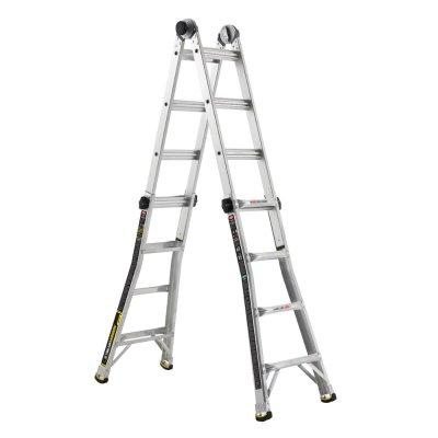 $79 Gorilla Ladders 17 ft. MPX Aluminum Telescoping Multi