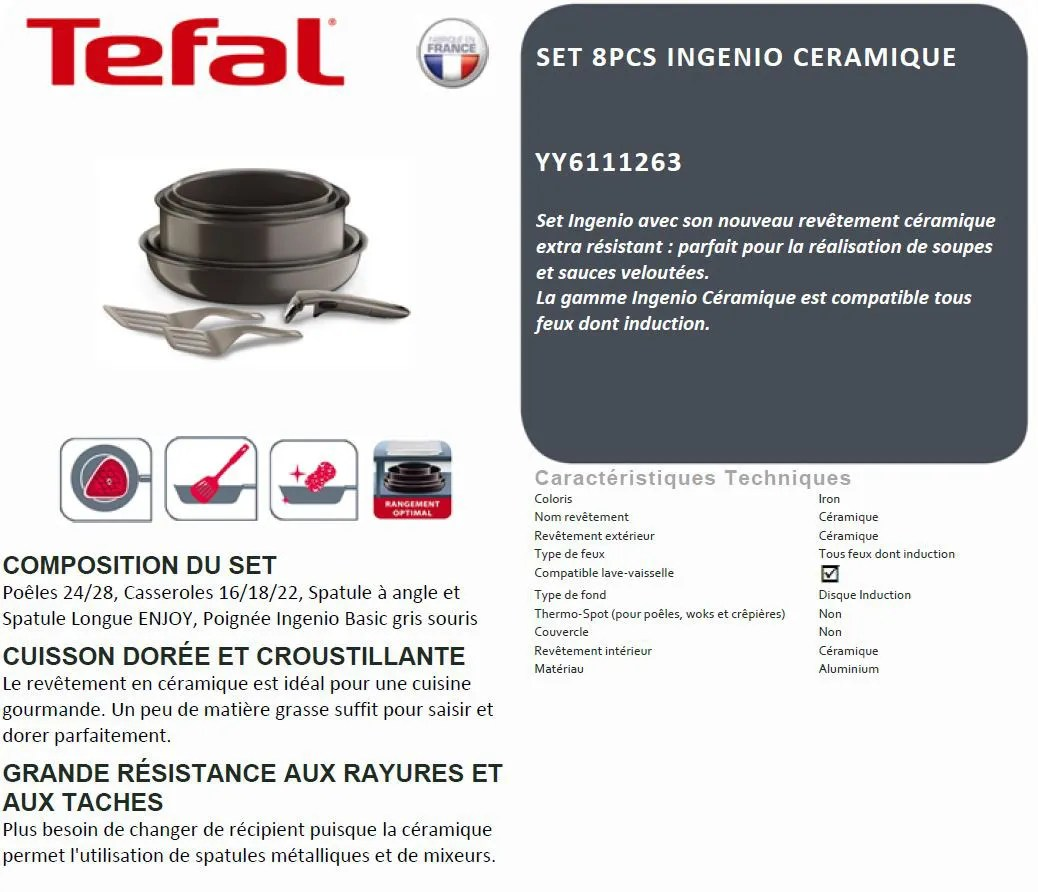 Batterie De Cuisine Tefal Induction
