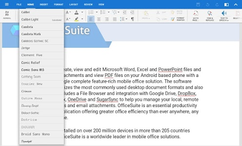 Download Download OfficeSuite Font Pack 1.1.5 APK | downloadAPK.net