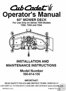 Cub-Cadet-60-Mower-Deck-Op-Manual-Model-No-590-614-100