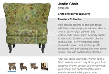 The Estate of Things chooses Crate & Barrel's Jardin Chair in Garden Pandoras