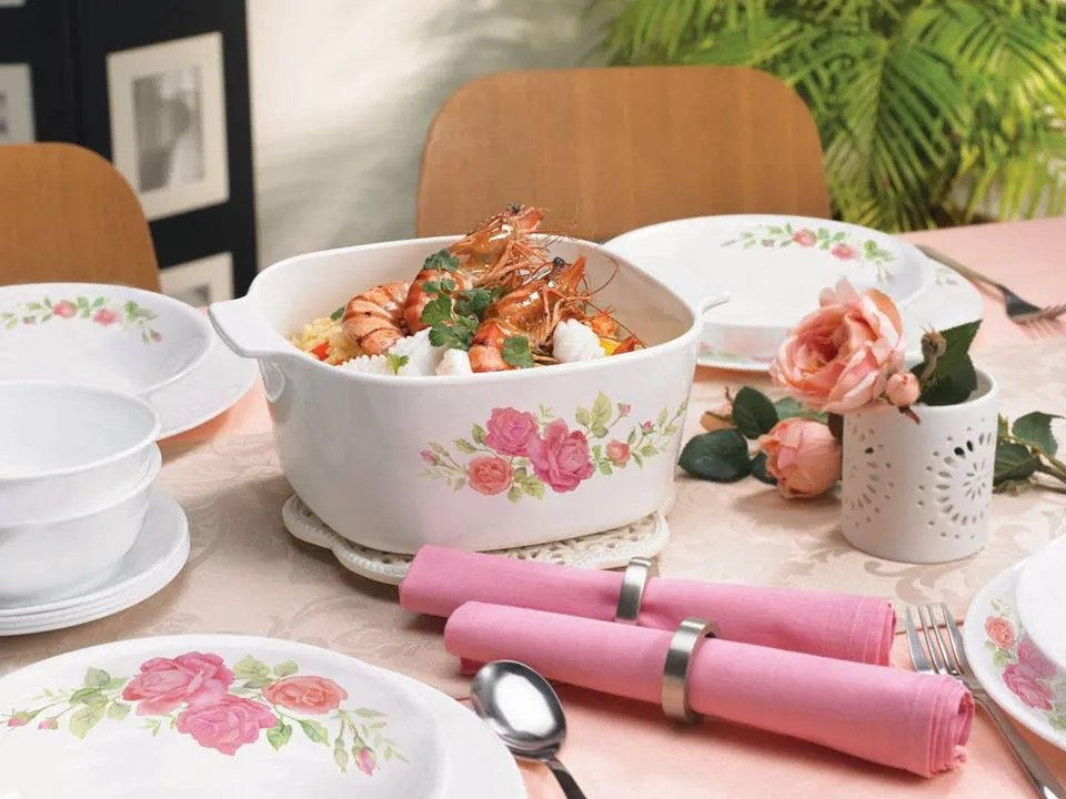 World Kitchen Presents Corelle's Rosabelle Collection Kelly Siew Cooks Best Corningware Dishes Patterns