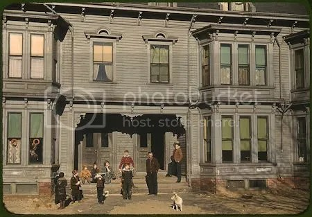 photo ChildrenInTheTenementDistrictBrocktonMassachusettsDecember1940ReproductionFromColorSlidePhotoJackDelano.jpg