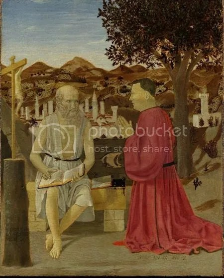 photo PieroDellaFrancescaSaintJeromeAndASupplicantCa1460ndash1464TemperaAndOilOnWood.jpg