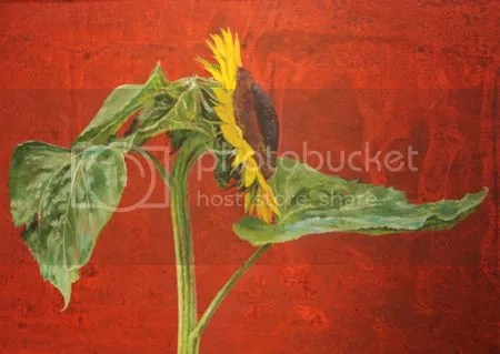 photo DSC_3123ErikAndriesseTweeZonnebloemen1980ndash1990AcrylOpDoekDetail01.jpg