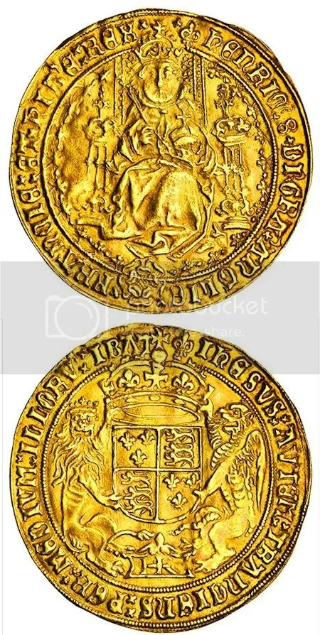 photo TudorFatFaceSovereignOfHenryVIIIThirdCoinage.jpg