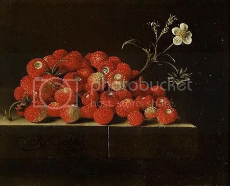 photo AdriaenCoorteWildStrawberries OnALedgeOilOnPaperLaidDownOnPanelSignedAndDatedLowerLeftOnTheLedgeACoorte1704.jpg