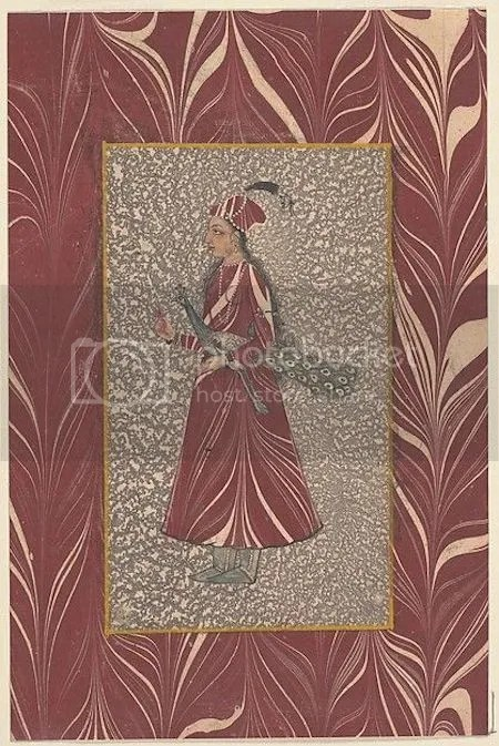 photo LadyCarryingAPeacockIllustratedAlbumLeafLate17thEarly18thCenturyIndiaDeccanProbablyHyderabad.jpg