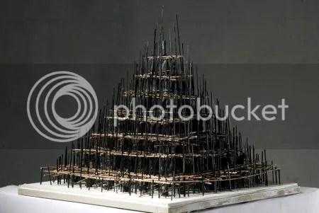 photo WalidSitiDeconstructedPyramid2013StrawClayAndAcrylicOnMDF.jpg