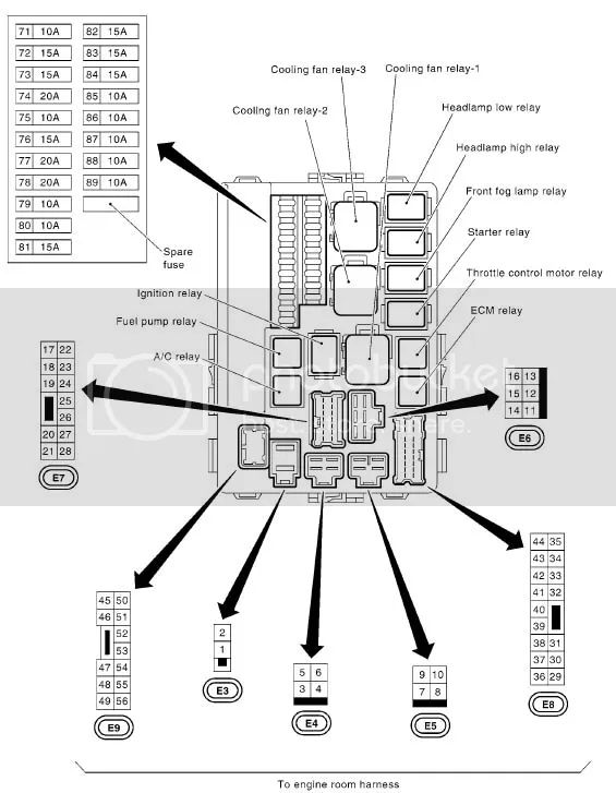2008 xterra fuse box diagram