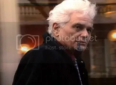 Jacques Derrida, in a still from the film