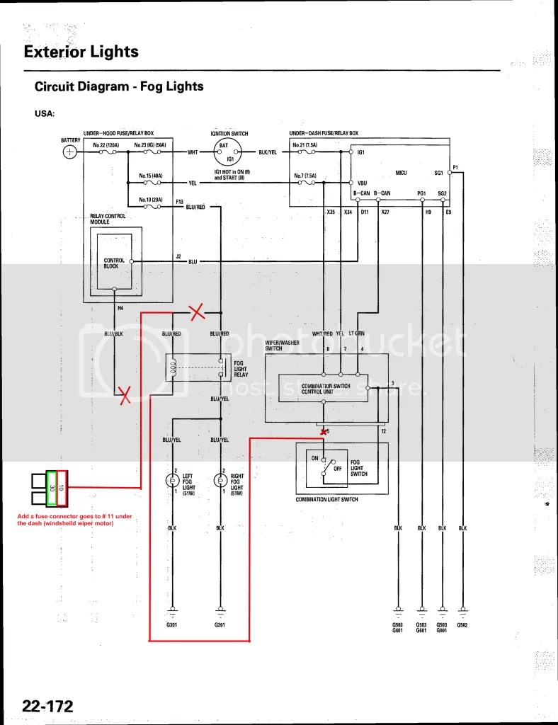 fog lights wiring diagram different parts of plant rsx light wire all data kit library lamp hid with oem