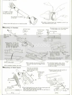 Marushin UZI Early All Metal version... Exploded Diagram