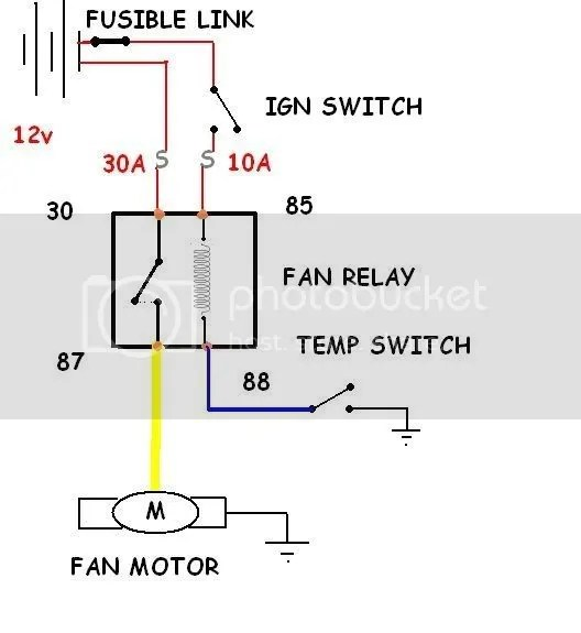ELECTRIC FAN RELAY WIRING